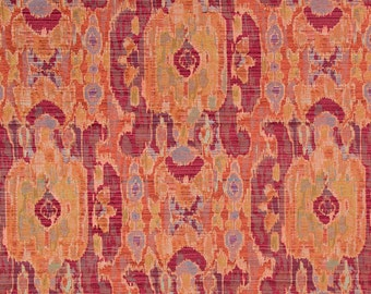 Coral Ikat Upholstery Fabric For Furniture Modern Denim Blue