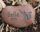 Custom Engraved Pet Memorial with pet name, image, and date