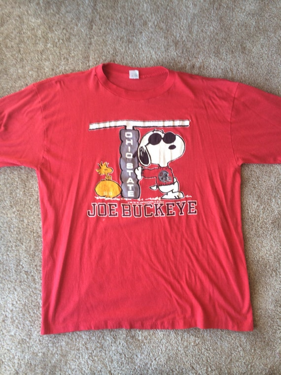 Vintage ohio state snoopy t shirt for Ohio state t shirts