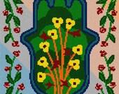 Needlepoint Canvas: Hamsa Floral