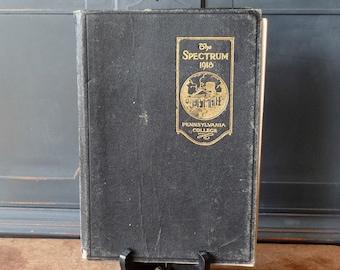 "Vintage Leather Yearbook, 1918, ""The Spectrum"" Gettyburg College Pennsylvania, Ephemera, Photographs"