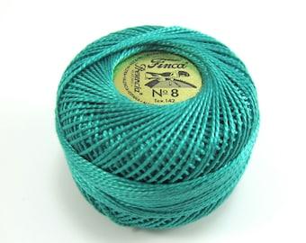 Finca Perle Cotton Thread Pearl Cotton - Dark Sea Green