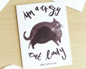 Crazy Cat Lady Set of 5 Cards