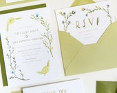 Washington rustic wedding Save the Date, Invitation, RSVP and Thank You card