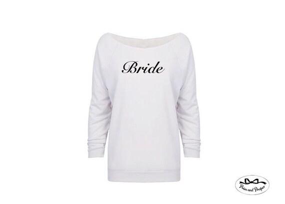 Bride Sweatshirt, Bride Gift, Wedding Gift, Engagement Gift, Bride Shirt, Bride Sweatshirt, Honeymoon Shirts, Off The Shoulder Sweatshirt
