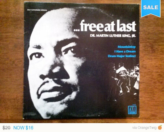 Sale Vintage 1968 Dr Martin Luther King Jr Vinyl Record