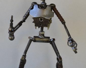 Hand Made PIT DROID 12 Inches Recycled Scrap Metal Star Wars