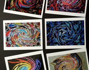 Abstract Swirls Note Cards