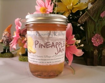 Homemade Pineapple Jam made by Beckeys Kountry Kitchen jam jelly preserves fruit spreads