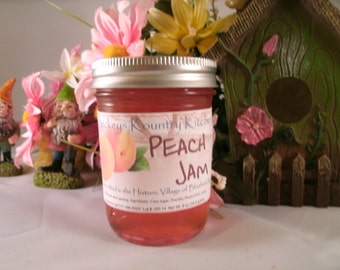 Peach Jam, Handcrafted, Deliciously Sweet, jam & jelly homemade by Beckeys Kountry Kitchen