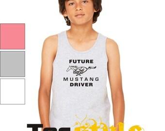 Future Mustang Driver Tank Top, Youth Tank Top, Printed Tank