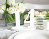 Wedding table numbers wooden number DIY decorations set 1-14