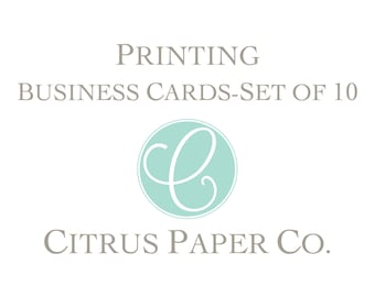 Printing - Set of 10 Business Cards / Calling Cards