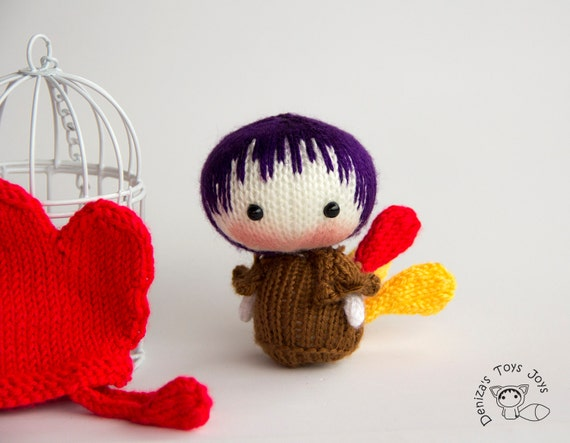 Knitting Toys In The Round : Small rooster doll easter tanoshi series toy pdf