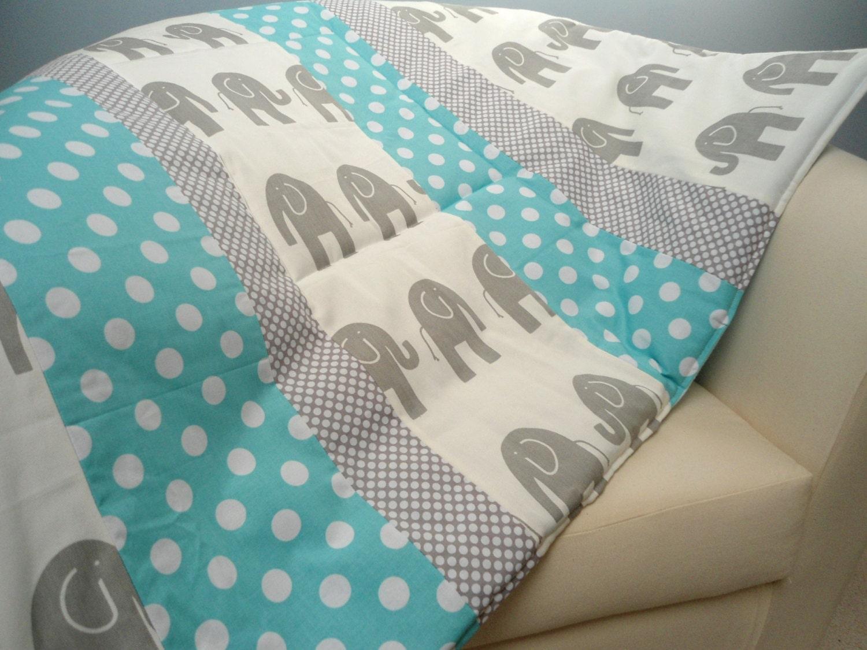baby play mat padded floor blanket monogrammed gray elephants