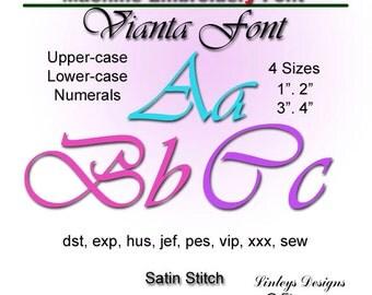 Download Machine Embroidery Alphabet: Vianta  Font.