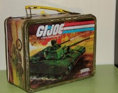 Vintage Metal GI Joe Thermos lunch box circa 1982.  What a great find