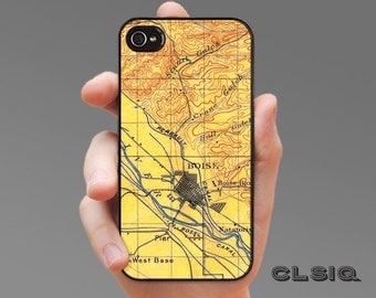 Vintage Boise Idaho Map iPhone Case for iPhone 6, iPhone 5/5s, or iPhone 4/4s, Samsung Galaxy S6, Galaxy S5, Galaxy S4, Galaxy S3