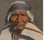 SW Native American Navajo Scout, HOSTEEN TSO, ca1940 postcard