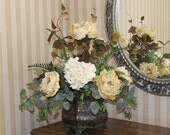 Floral Centerpiece - Cream and Pale Yellow