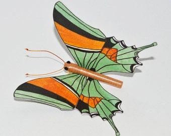 Green Butterfly Sculpture: Kaiser-I-Hind Lepidoptera, Butterfly decoration