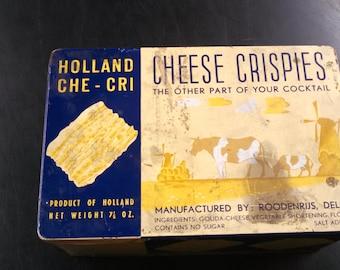 Vintage Cheese Crispies Tin