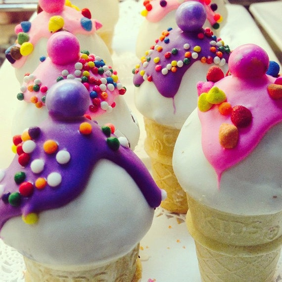 Cream Pink Color Rainbow or Any Color Ice Cream