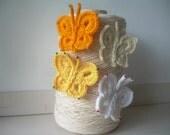 Crochet Butterflies, 4 units.