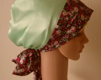 Women's Head Wear, women's head covering, elegant tichel, sleeping bonnet, satin hair wrap, bonnet for long hair, satin headscarf