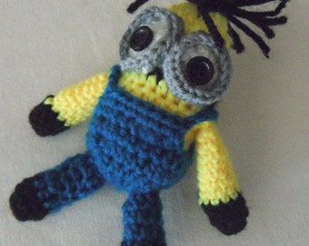 New Handmade Crochet  Minion toy. Hand crocheted toy