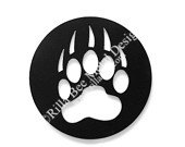 Bear Paw Print Metal Art