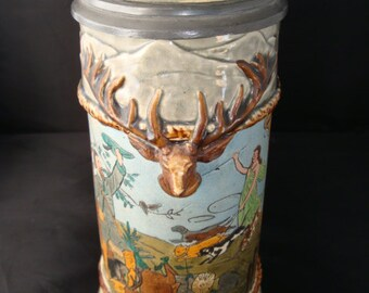 Vintage Intricate Beer Stein by Unknown Artist/Company.
