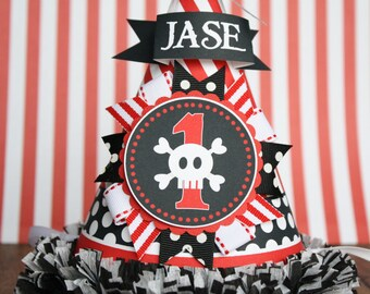 Pirate Party Hat, Pirate Birthday Party Hat