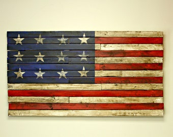 American Flag, Wood Flag, Rustic American Flag, Wall Art, Wall Flag, Home Accent Piece, Home Decorating , Home Decor