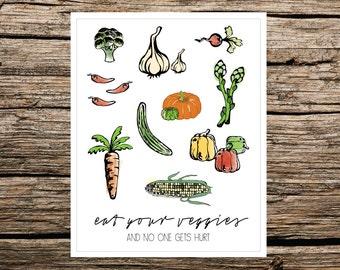 Art Print // Eat Your Veggies (Instant Download)