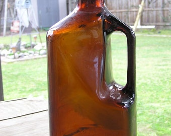 Amber Liquor Bottle