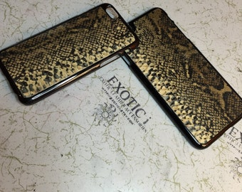 Leather iPhone 6 case Exotic Boa Constrictor Skin (Natural color)