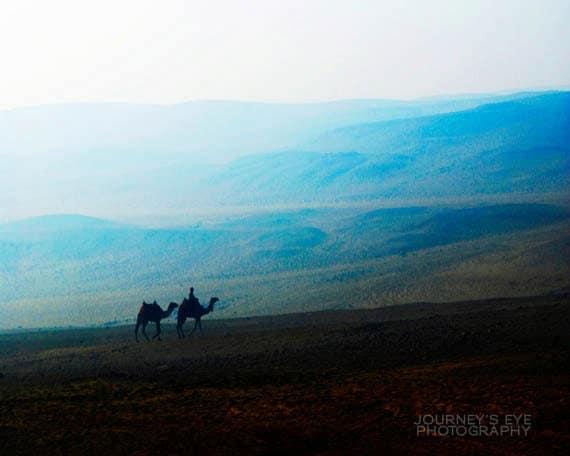 Landscape photo, Egyptian art, travel photography, Sahara desert, exotic, Egypt print, blue, wall art - Journey