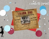 Thank You Card / Photo Card - LITTLE OUTLAW (BOY)