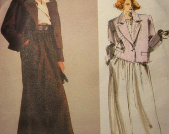 Vintage Vogue American Designer Series Pattern 1627 Calvin Klein Suit Skirt and Jacket Size 16