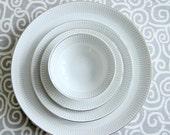Mid Century Eva Zeisel Design Haviland Bavaria Germany China 4 pc Grey White Platinum 1950s