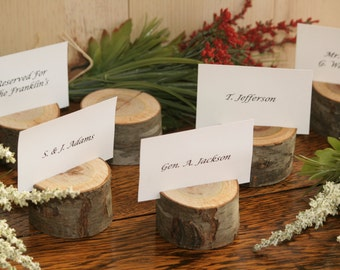 10 rustic place card holder escort card holder place holder rustic wedding decor