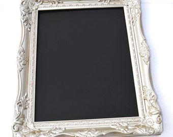 "Champagne Ornate Baroque Style Wedding Framed Chalkboard 16x20"" inside Wedding Prop Wedding chalkboard photo frame menu board kitchen decor"