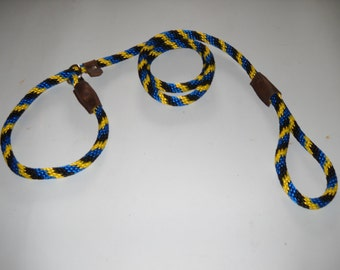 "Warner nylon British slip lead dog leash 1/2"" X 6 ft."