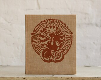 """Hardcover Notebook Tartuensis Classic """"Lion"""", Fabric Bound Antique Style Diary"""