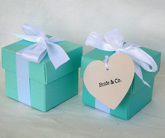 Aqua Wedding Favor Boxes : Items similar to aqua favor boxes box teal turquoise blue