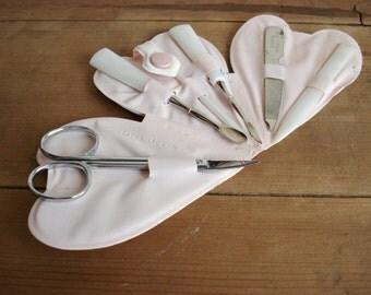 Vintage Manicure Kit English Heart Shaped Nail Kit