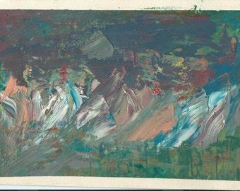 Original Oil Painting:  Snow Mountain