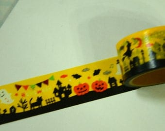1 Roll of Japanese Washi Masking Paper Tape - Halloween