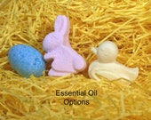 4 Mini Bunny, Duck and Egg Bath Bomb Sets - Essential Oils Options